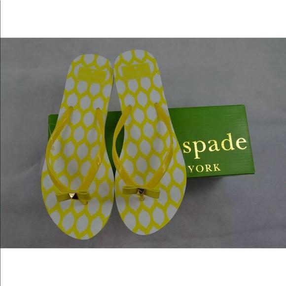 Kate Spade Nadine Yellow Flip Flops